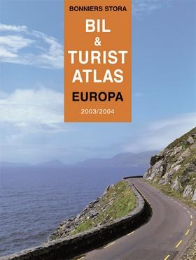 Bonniers stora bil- & turistatlas Europa 2003/2004