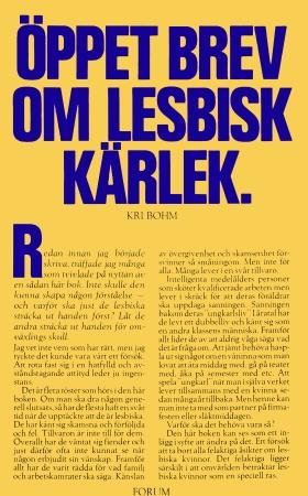 Öppet brev om lesbisk kärlek