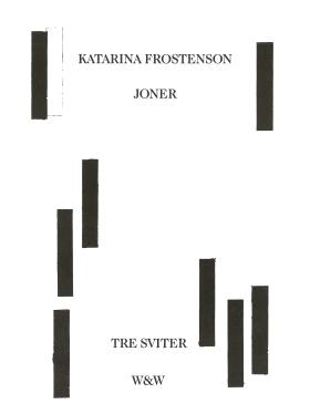 E-bok Joner : tre sviter av Katarina Frostenson