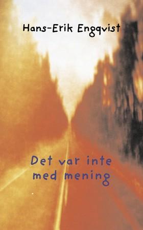 Det var inte med mening av Hans Erik Engqvist