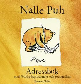 Nalle Puh Adressbok med födelsedagskalender av A.A. Milne