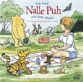 Lek med Nalle Puh och hans vänner : en rolig pop-up-bok med figurer i band av A.A. Milne