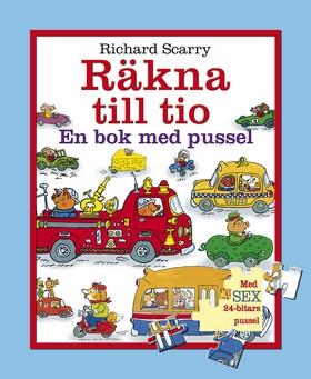 Räkna till tio : en bok med pussel av Richard Scarry