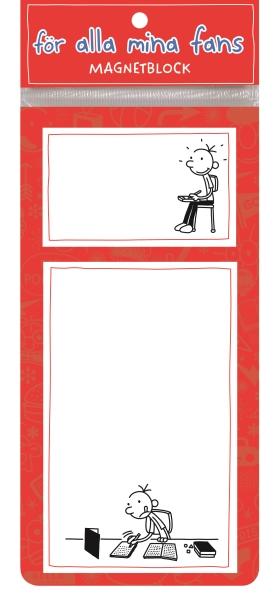 Dagbok för alla mina fans: Magnetblock röd