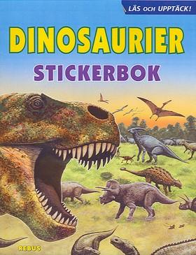 61110: Dinosaurier stickerbok Läs och upptäck