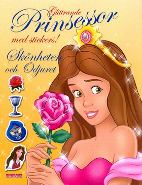 Glittrande prinsessor med stickers! Skönheten och Odjuret