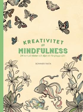 Kreativitet och mindfulness – 24 kort på växter och djur att färglägga och skicka