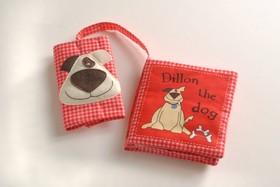 Babyns bilbok - Hunden Hugo (röd)