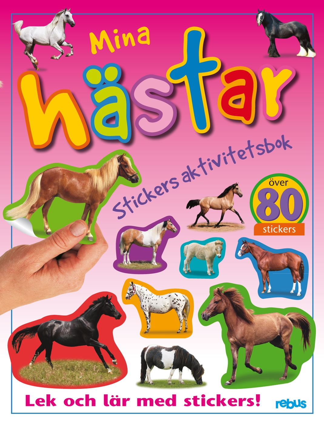 Mina hästar stickers aktivitetsbok