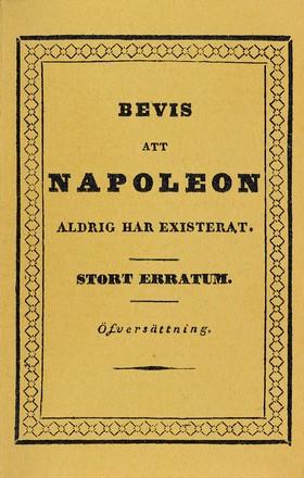 Bevis att Napoleon aldrig har existerat : Stort erratum