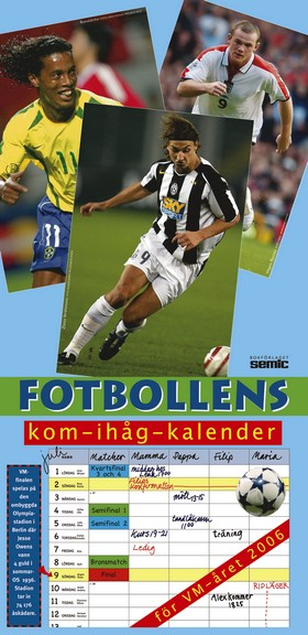 Fotbollens kom-ihåg-kalender 2006