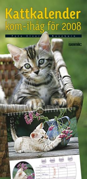 Kattkalender kom-ihåg för 2008