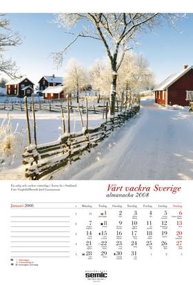 Vårt vackra Sverige almanacka 2008