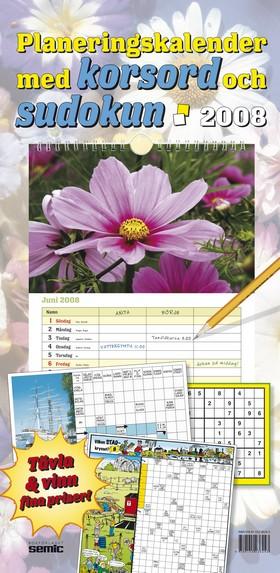 Planeringskalender med korsord och sudokun 2008