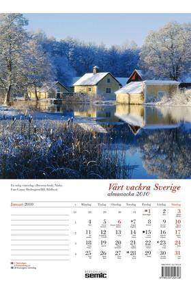Vårt vackra Sverige almanacka 2010