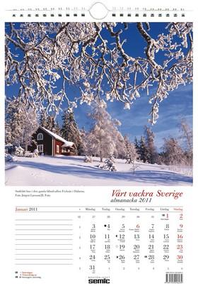 Vårt vackra Sverige almanacka 2011