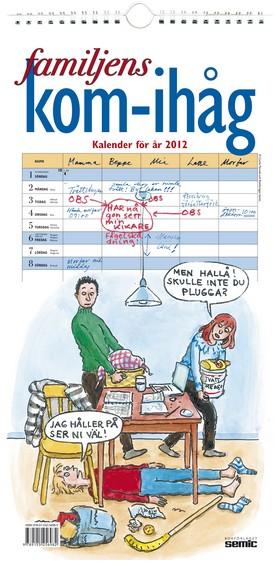 Familjens kom-ihåg kalender 2012