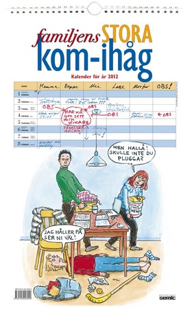 Familjens STORA kom-ihåg kalender 2012