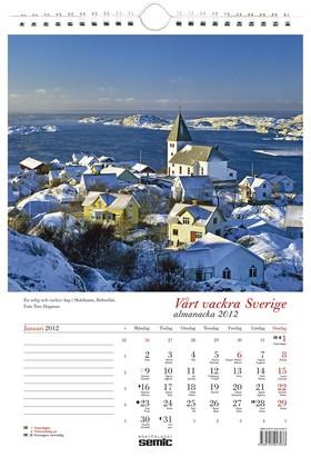 Vårt vackra Sverige almanacka 2012