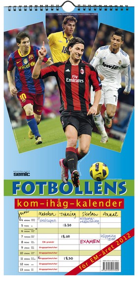 Fotbollens kom-ihåg-kalender 2012