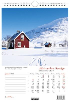 Vårt vackra Sverige almanacka 2014