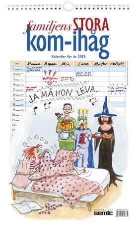 Familjens STORA kom-ihåg-kalender 2015