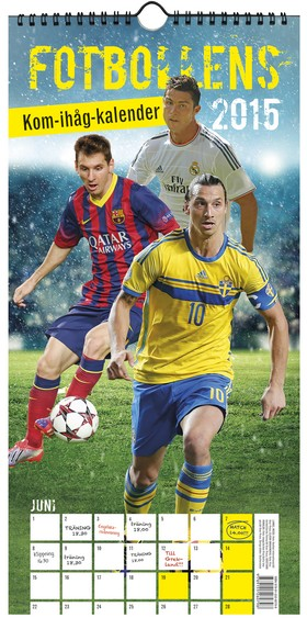 Fotbollens kom-ihåg-kalender 2015