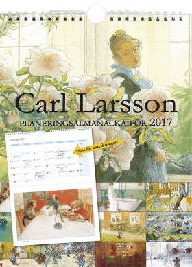 Carl Larsson planeringsalmanacka 2017