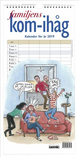Familjens kom-ihåg-kalender 2019