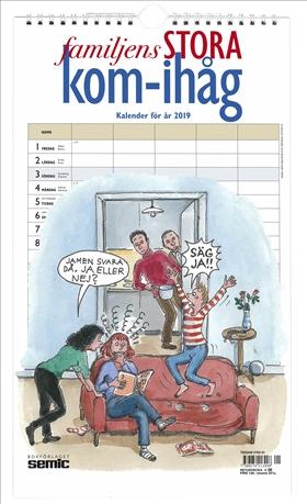 Familjens STORA kom-ihåg-kalender 2019