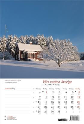 Vårt vackra Sverige almanacka 2019