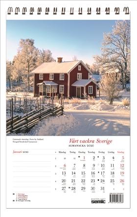 Vårt vackra Sverige almanacka 2020