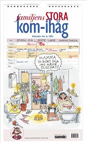 Familjens STORA kom-ihåg-kalender 2021