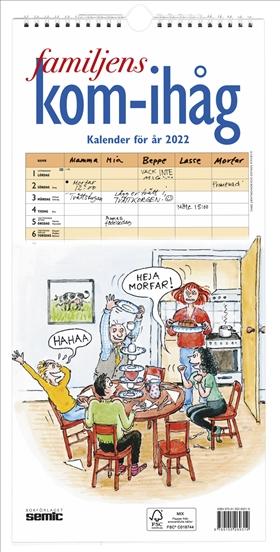 Familjens kom-ihåg-kalender 2022