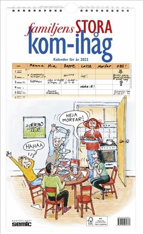 Familjens STORA kom-ihåg-kalender 2022
