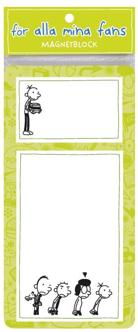Dagbok för alla mina fans: Magnetblock grön