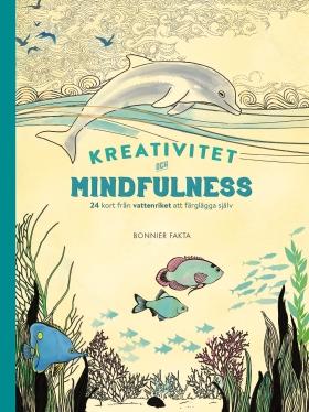 Kreativitet och mindfulness 24 kort från vattenriket att färglägga och skicka