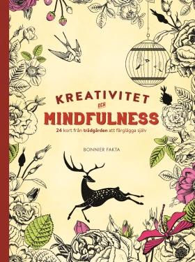 Kreativitet och mindfulness 24 kort från trädgården att färglägga och skicka