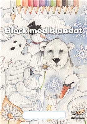 Block med blandat 1 - vit, 5-pack