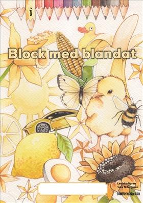 Block med blandat 2 - gul, 5-pack