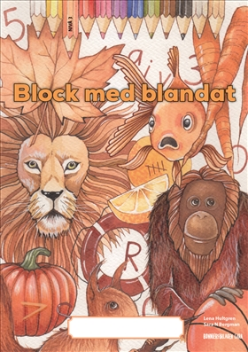 Block med blandat 3 - orange, 5-pack