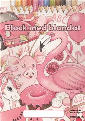 Block med blandat 5 - rosa, 5-pack