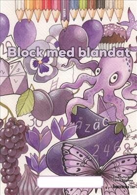 Block med blandat 6 - lila, 5-pack