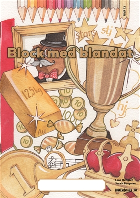 Block med blandat 12 - guld, 5-pack